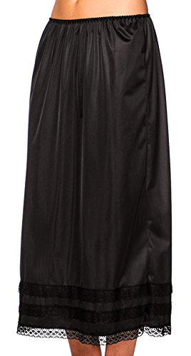 "Patricia Women's Plus Size Anti-Static Half-Slip Snip-It 3 Lengths 27"" 29"" 31"" Black 2X"