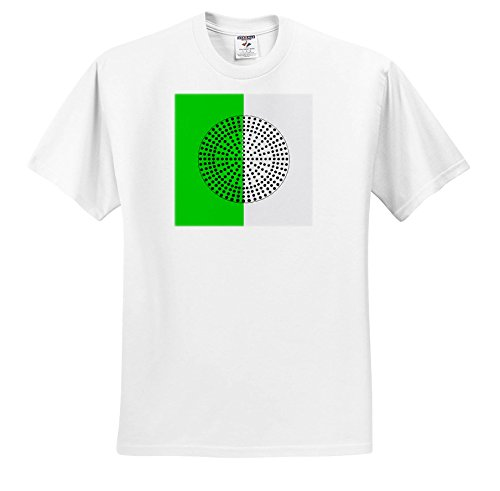 Alexis Photography - Abstracts - Metal Surface Perforated Circle. Black Hole Sun. Green, White Colors - T-Shirts - White Infant Lap-Shoulder Tee (18M) (ts_283992_68) (Green Perforated Metal)