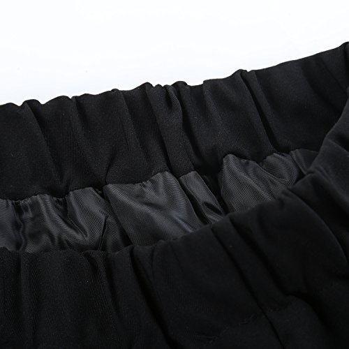 Genetic - Falda - trapecio - Cuadrados - 100 DEN - para mujer Multicolore - Black white stripes
