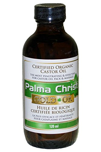 Palma Christi Gold Organic Non Sticky Hexane Free Castor Oil 120ml (4oz) Glass - S Christi