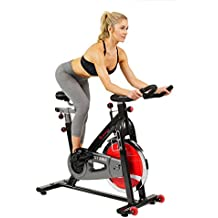 Sunny Health & Fitness SF-B1002 Belt Drive Indoor Cycling Bike, Grey