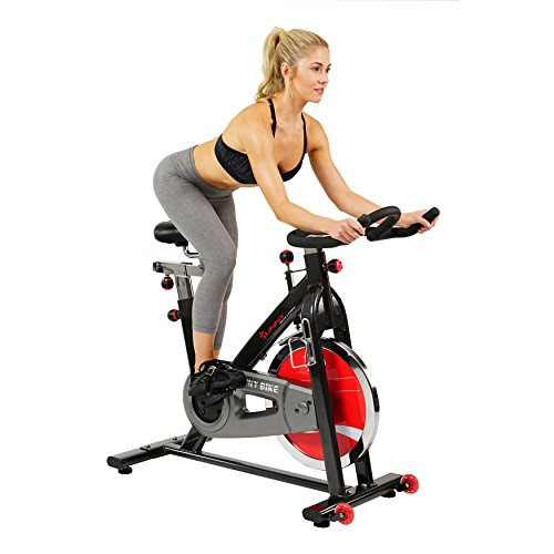 Star Trac Nxt - Sunny Health & Fitness SF-B1002 Belt Drive Indoor Cycling Bike, Grey