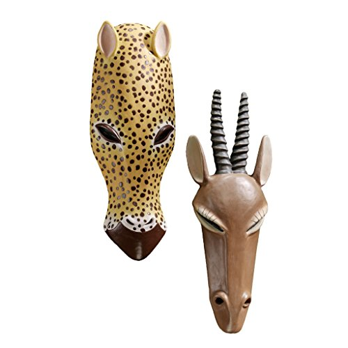Design Toscano African Serengeti Tribal-Style Animal Wall Mask Set