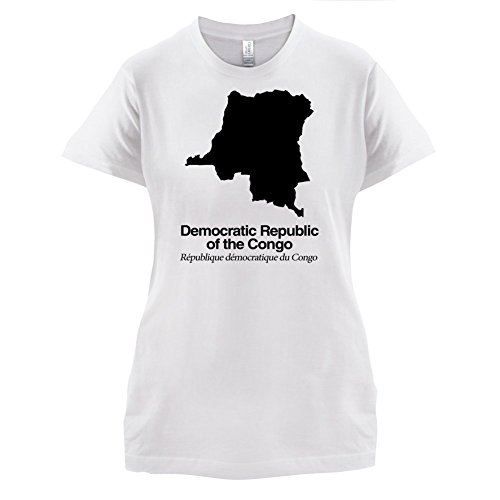 Democratic Republic of the Congo / Demokratische Republik Kongo Silhouette - Damen T-Shirt - Weiß - S