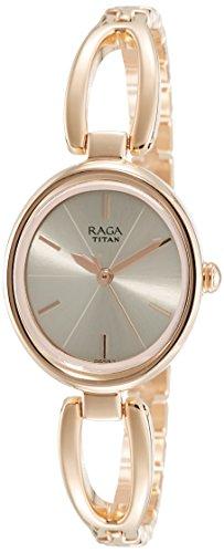 Titan Raga Viva Analog Rose Gold Dial Women S Watch 2579wm01