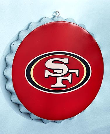 Nfl Bottle Cap Wall Hangings   49Ers