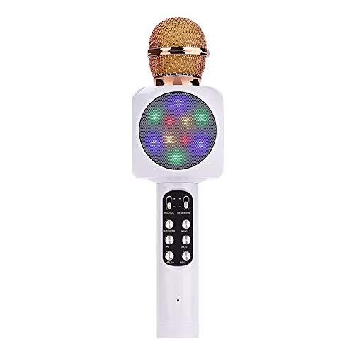 Hancoc Telefoon K Song KTV Microfoon Condensor Microfoon Bluetooth Draadloze Microfoon 26 * 5cm (Color : White)