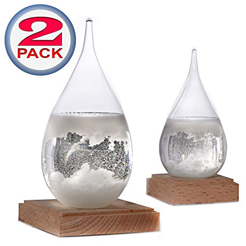 - Constantinople Storm Glass Weather Predictor - Weather Glass Predictor 2 in 1 Set | Unique Office and Home Decor | Weather Predicting Storm Glass | Large and Small Decorative Weather Forecaster Glass