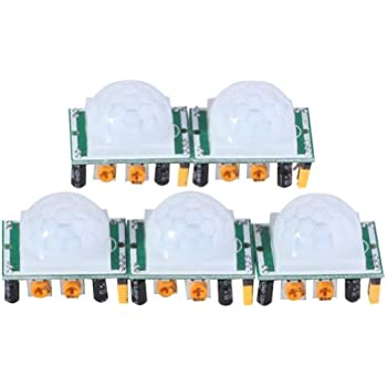 EMY 5 X HC-SR501 Adjust Ir Pyroelectric Infrared PIR Motion Sensor Detector Modules
