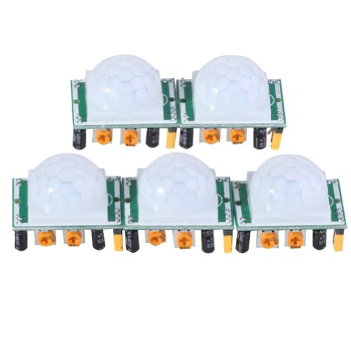 - EMY 5 X HC-SR501 Adjust Ir Pyroelectric Infrared PIR Motion Sensor Detector Modules