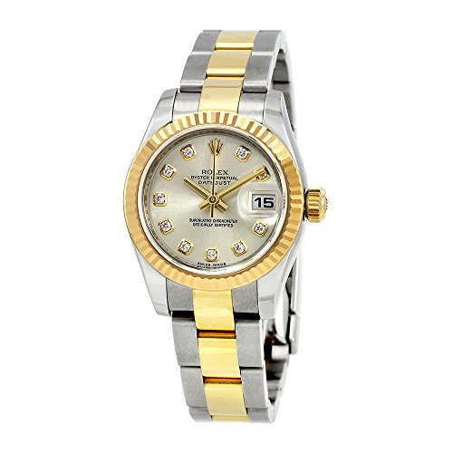Rolex Lady Datejust 26 Silver Dial Stainless Steel and 18K Yellow Gold Rolex Oyster Automatic Watch 179173SDO