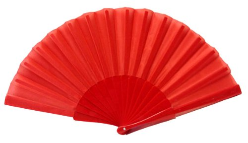 "Top 10 Diy Halloween Costumes (Just Artifacts Decorative 9"" Folding Silk Hand Fans w/ Plastic Handle (Set of 10, Red))"
