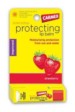 Carmex Strawberry Flavor SPF 15 Moisturizing Lip Balm Stick, 0.15 oz by - Mall Frisco Shopping
