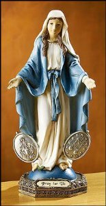 Blessed By Pope Benedetto XVI Our Lady of the Miraculous Medal Religious Gifts (Medal Miraculous Statue)