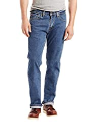 The original zip fly, first created in 1967, the 505 regular fit jeans are one of Levi's most popular straight fits. Beloved for their classic straight leg style, they are cut to sit at the waist, comfortable throughout the seat and thigh and...