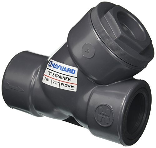 - Hayward YS10250S 2-1/2-Inch Socket PVC Y-Strainer with FPM O-ring Seals