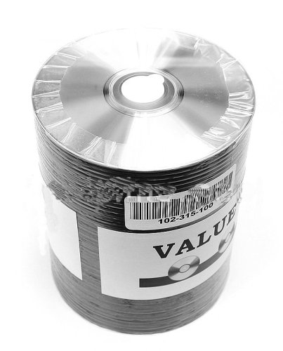 Taiyo Yuden 4.7 GB 16x Thermal printable silver DVD-R (value line), 100 pack by Taiyo Yuden