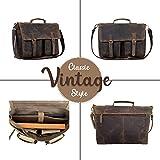 KomalC 18 Inch Leather briefcase Laptop Messenger