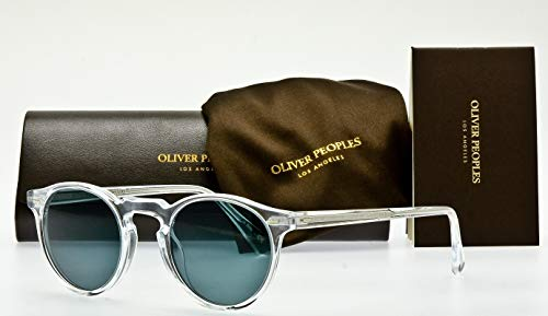 e15f5db16a8c3 Oliver Peoples Gregory Peck 47mm Round Acetate Unisex Sunglasses  (Crystal Indigo Photochromic 1101R8)