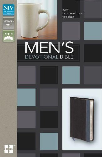 NIV, Men's Devotional Bible, Leathersoft, Black/Blue