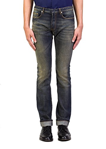 Dior Homme Men's Blue Marine Slim Fit Denim Jeans Pants - Men Dior Jeans