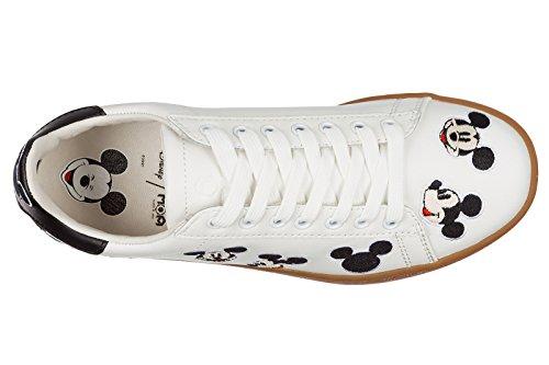 Moa Master of Arts zapatos zapatillas de deporte mujer en piel nuevo blanco