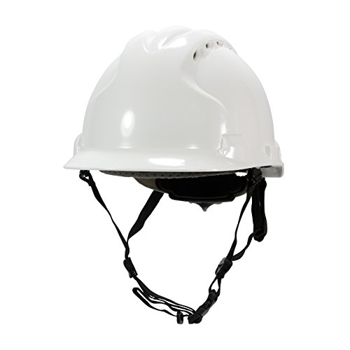 MK8 Evolution 280-AHS240V-10 Vented Type II Linesman Hard Hat with HDPE Shell, EPS Impact Liner, Polyester Suspension, Wheel Ratchet Adjustment and 4-Point Chin - Chin Strap 4 Point