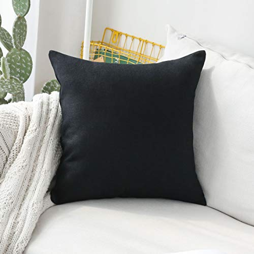 HOME BRILLIANT Decorative Lined Linen Euro Sham Pillow Cover for Couch Bench Patio Floor, 24