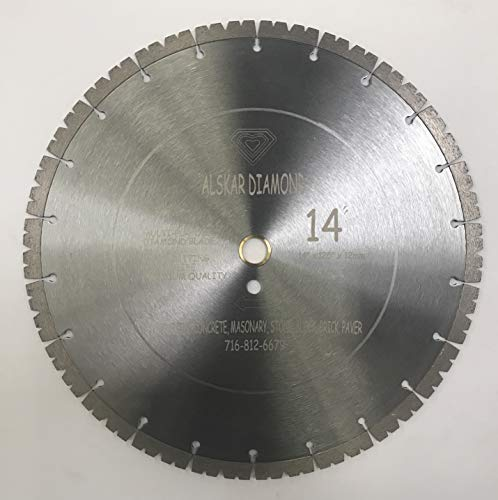 ALSKAR DIAMOND ADLPS 14 inch Dry or Wet Cutting General Purpose Power Saw Segmented Diamond Blades for Concrete Stone Brick Masonry (LPS14