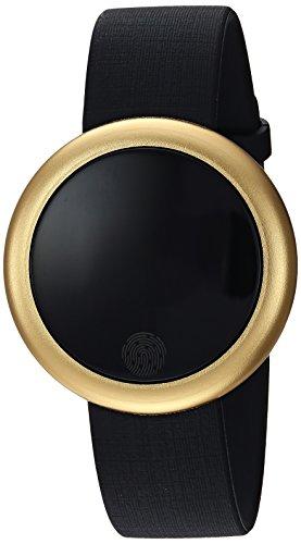 Emotion Unisex Metal and Rubber Smartwatch, Color: Gold-Tone, Black (Model: FMDEM002) by eMotion