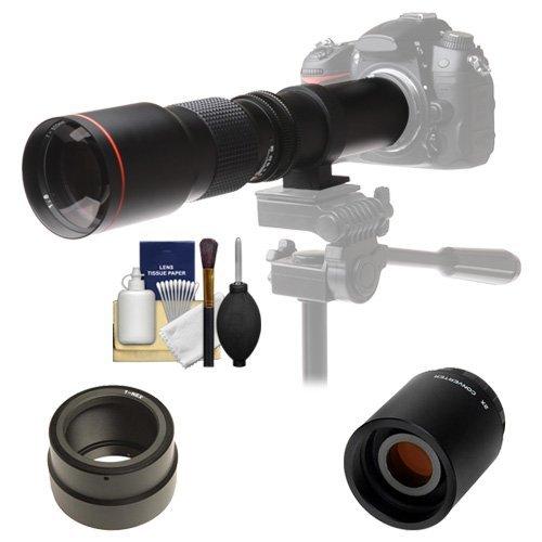 Vivitar 500mm f/8.0 Telephoto Lens with 2x Teleconverter (=1000mm) + Kit for Sony Alpha A3000, A5000, A5100, A6000, A7, A7R, A7S E-Mount Camera [並行輸入品]   B01L4TBIUQ