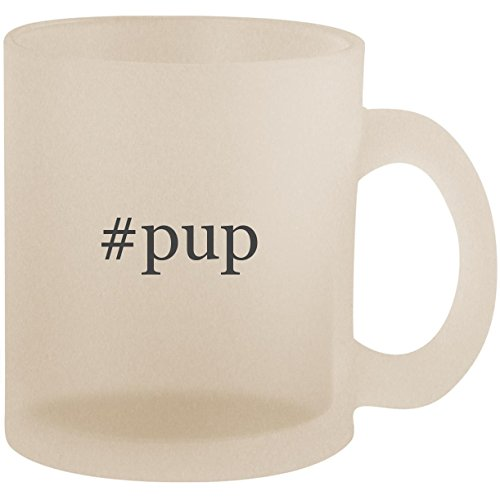 #pup - Hashtag Frosted 10oz Glass Coffee Cup Mug ()