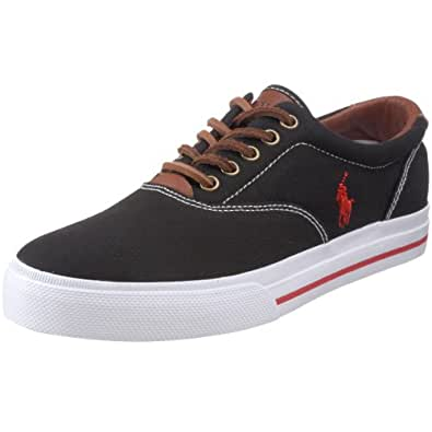 Polo Ralph Lauren Men's Vaughn Fashion Sneaker, Black, 7 D US