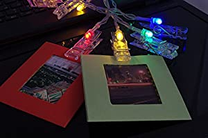 Katia Shining Instant Camera Hanging Frame Accessories Bundle Sets for Fujifilm Instax Mini 8 Instant Camera with LED Photo Clips String Lights + Hanging Picture Frames