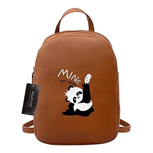 Mini Backpack Leather Bags PU Girl Cartoon Panda Women Animal School Prosperveil Travel Print It4Pn0