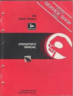 JOHN DEERE 200 STACK WAGON SERVICE MANUAL OM-N159476 ISSUE A8 -