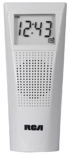 RCA BRC10 Bathroom Clock Radio (White)