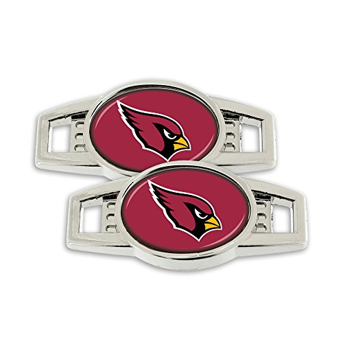 Silver Arizona Cardinals Charm - NFL Arizona Cardinals Shoe Charm (2 Pack), 1.25