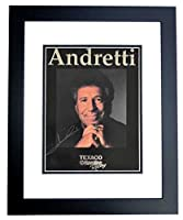 Mario Andretti Signed - Autographed Formula One Racing 8x10 inch Photo BLACK CUSTOM FRAME - Guaranteed to pass PSA or JSA