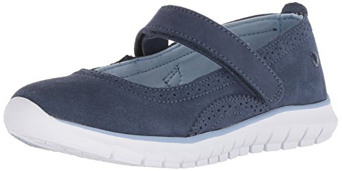 Hush Puppies Girls' Flote Tricia MJ Sneaker, Navy, 13 Medium US Little Kid