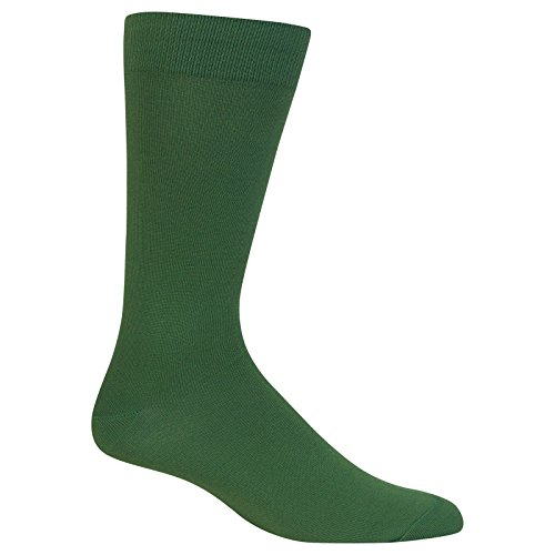 Hot Sox Men's Fashion Boot Socks, Supersoft Solid (Hunter), Shoe Size:6-12 / Sock Size: 10-13 (Dress Shoes Green)