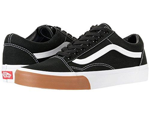 Varevogne Gamle Skool Unisex Voksnes Lav Sneakers (tyggegummi Kofanger) Blk / Sand Wht zal6yI