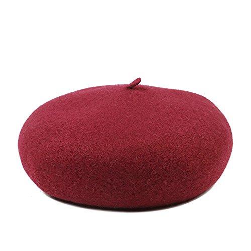 Wool Beret Hat (Wool Berets Cap for Women Beanies Cap Artist Hats French Style)