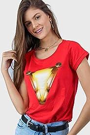 Camiseta Shazam Logo Movie Oficial Feminina