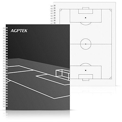 (AGPTEK Soccor Notebook, Football Coaching Play Book and Scorebook with 1 Scoring and 3 Strategy Formulation)