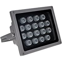 PANOEAGLE IR Illuminator 850nm 18 PCS LED Wide Angle 90 Degrees Night Vision for CCTV Camera(Include Power Adapter)