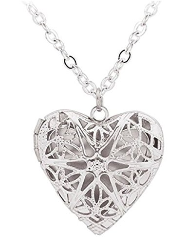 Open Filigree Heart Locket - 9
