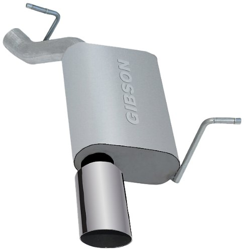 Cherokee Gibson Single - Gibson Performance Exhaust 617408 Stainless Steel Single Rear Exhaust System