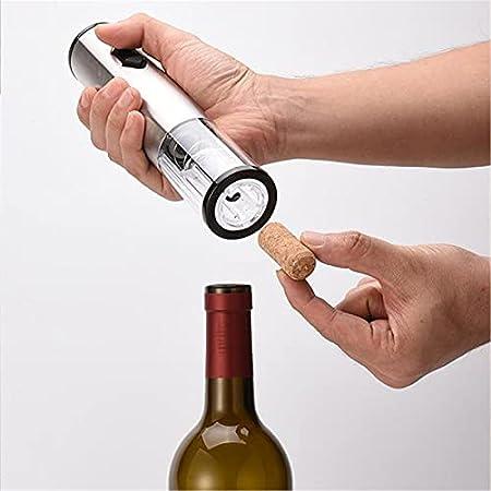 CHENSHJI Sacacorchos automático Abridores de Botellas de Vino eléctrico Set Recargable Aire de Aire automático de la presión de Aire (Color : Silver, Size : 22.4x4.6cm)