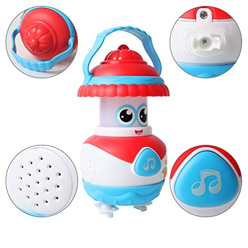 MEYUEWAL Music Toy for 12-18 Month+, Musical Instrument for Children Infant Toddler, Kids Early Learning Education Toy (Red-White)